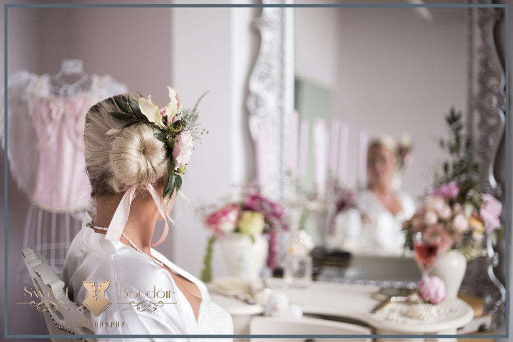 gewaagde reportage in bruidslingerie