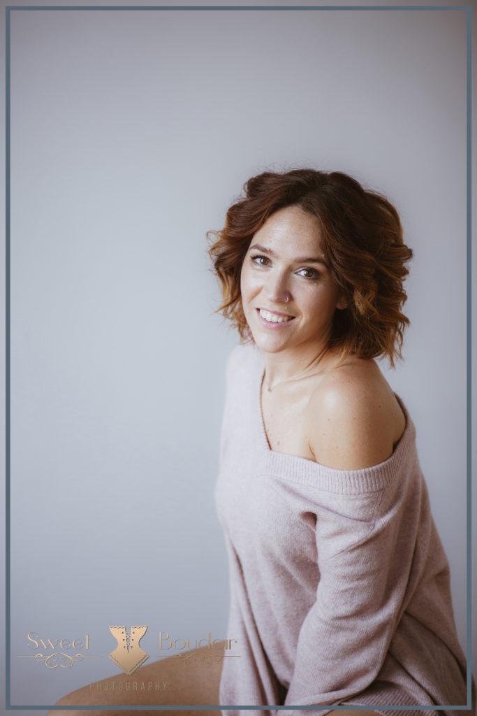 portret fotografie vrouw in boudoir stijl