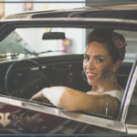 garage babe met buick muscle car
