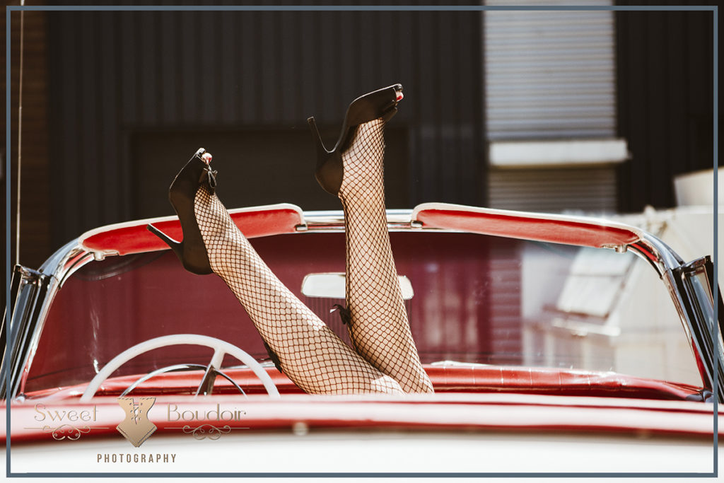 retro kousen met hotrod auto