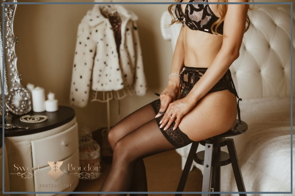 Boudoir lingerie reportage in fotostudio